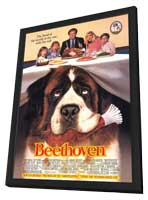 Beethoven - 11 x 17 Movie Poster - Style A - in Deluxe Wood Frame