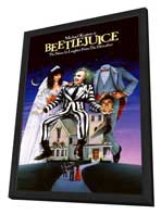 Beetlejuice - 11 x 17 Movie Poster - Style B - in Deluxe Wood Frame