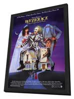 Beetlejuice - 27 x 40 Movie Poster - Style A - in Deluxe Wood Frame