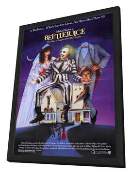 Beetlejuice - 11 x 17 Movie Poster - Style A - in Deluxe Wood Frame