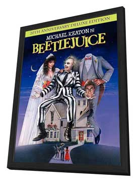 Beetlejuice - 27 x 40 Movie Poster - Style B - in Deluxe Wood Frame