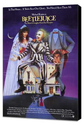 Beetlejuice - 27 x 40 Movie Poster - Style A - Museum Wrapped Canvas