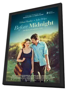Before Midnight - 27 x 40 Movie Poster - German Style A - in Deluxe Wood Frame