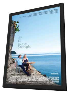 Before Midnight - 11 x 17 Movie Poster - Style A - in Deluxe Wood Frame