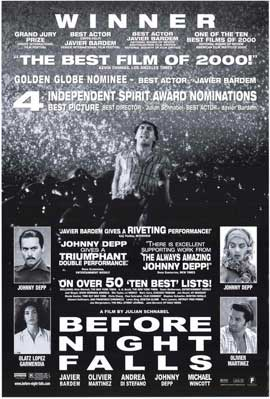 Before Night Falls - 11 x 17 Movie Poster - Style A