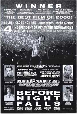 Before Night Falls - 27 x 40 Movie Poster - Style A