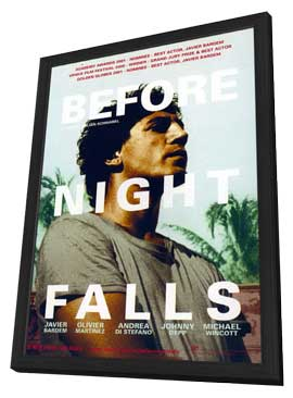 Before Night Falls - 11 x 17 Movie Poster - Style C - in Deluxe Wood Frame