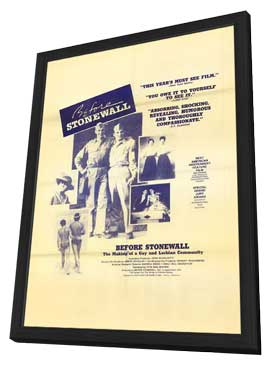Before Stonewall - 11 x 17 Movie Poster - Style B - in Deluxe Wood Frame