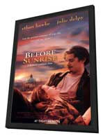 Before Sunrise - 27 x 40 Movie Poster - Style A - in Deluxe Wood Frame