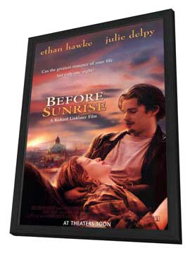 Before Sunrise - 11 x 17 Movie Poster - Style A - in Deluxe Wood Frame