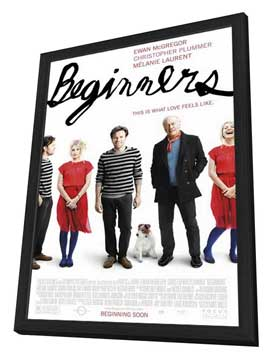 Beginners - 11 x 17 Movie Poster - Style A - in Deluxe Wood Frame