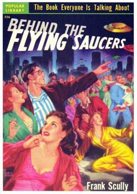 Behind the Flying Saucers - 11 x 17 Retro Book Cover Poster