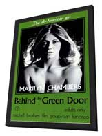 Behind the Green Door - 11 x 17 Movie Poster - Style A - in Deluxe Wood Frame