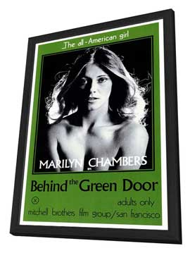Behind the Green Door - 27 x 40 Movie Poster - Style A - in Deluxe Wood Frame