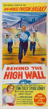 Behind the High Wall - 13 x 30 Movie Poster - Australian Style A