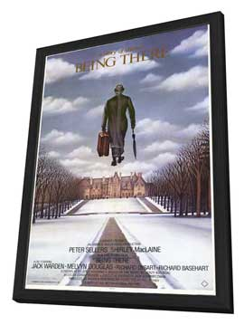 Being There - 11 x 17 Movie Poster - Style A - in Deluxe Wood Frame