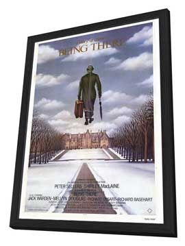 Being There - 27 x 40 Movie Poster - Style A - in Deluxe Wood Frame