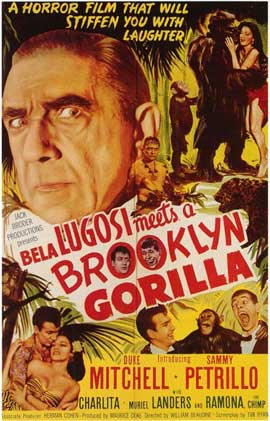Bela Lugosi Meets a Brooklyn Gorilla - 11 x 17 Movie Poster - Style A