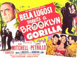 Bela Lugosi Meets a Brooklyn Gorilla - 11 x 14 Movie Poster - Style A