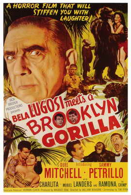 Bela Lugosi Meets a Brooklyn Gorilla - 27 x 40 Movie Poster - Style A