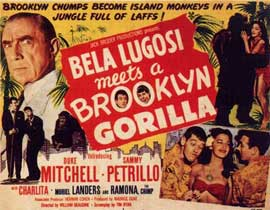 Bela Lugosi Meets a Brooklyn Gorilla - 11 x 17 Movie Poster - Style B