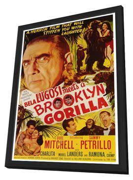 Bela Lugosi Meets a Brooklyn Gorilla - 27 x 40 Movie Poster - Style A - in Deluxe Wood Frame