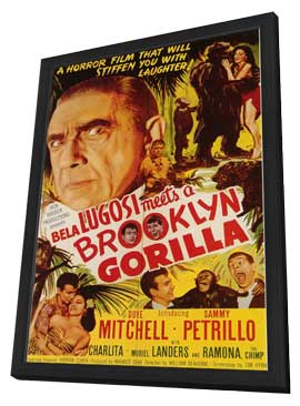 Bela Lugosi Meets a Brooklyn Gorilla - 11 x 17 Movie Poster - Style A - in Deluxe Wood Frame