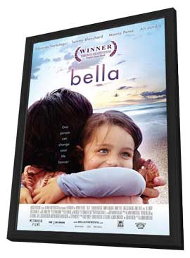 Bella - 11 x 17 Movie Poster - Style F - in Deluxe Wood Frame