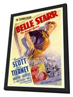 Belle Starr - 27 x 40 Movie Poster - Style A - in Deluxe Wood Frame
