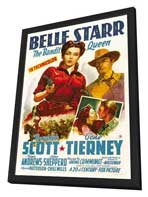 Belle Starr - 27 x 40 Movie Poster - Style B - in Deluxe Wood Frame
