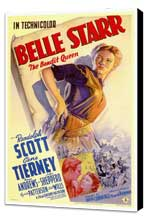 Belle Starr - 27 x 40 Movie Poster - Style A - Museum Wrapped Canvas