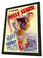 Belle Starr - 11 x 17 Movie Poster - Style A - in Deluxe Wood Frame