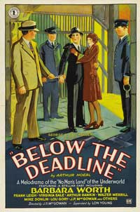 Below the Deadline - 11 x 17 Movie Poster - Style B