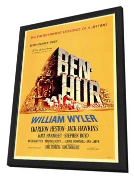Ben-Hur - 27 x 40 Movie Poster - Style A - in Deluxe Wood Frame