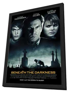 Beneath the Darkness - 27 x 40 Movie Poster - Style A - in Deluxe Wood Frame
