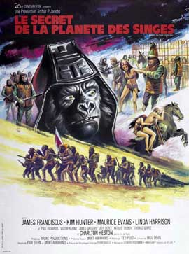 Beneath the Planet of the Apes - 11 x 17 Movie Poster - French Style A