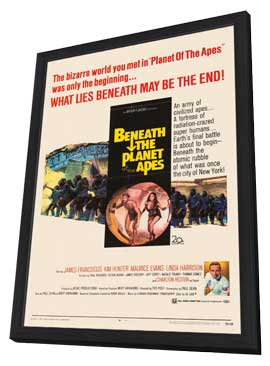 Beneath the Planet of the Apes - 11 x 17 Movie Poster - Style A - in Deluxe Wood Frame
