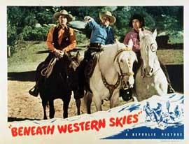 Beneath Western Skies - 11 x 14 Movie Poster - Style B
