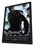 Beowulf - 11 x 17 Movie Poster - Style C - in Deluxe Wood Frame