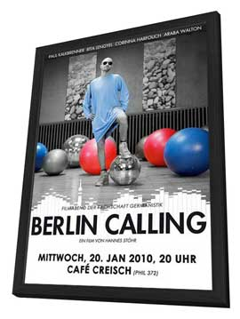 Berlin Calling - 27 x 40 Movie Poster - German Style A - in Deluxe Wood Frame