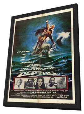 Bermuda Depths - 11 x 17 Movie Poster - Style A - in Deluxe Wood Frame