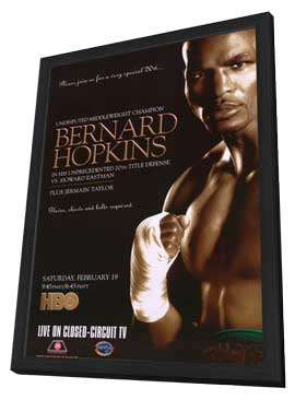 Bernard Hopkins vs Howard Eastman - 11 x 17 Boxing Promo Poster - Style A - in Deluxe Wood Frame