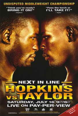 Bernard Hopkins vs. Jermain Taylor - 11 x 17 Boxing Promo Poster - Style A