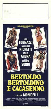 Bertoldo, Bertoldino, and Cascacenno - 13 x 28 Movie Poster - Italian Style A
