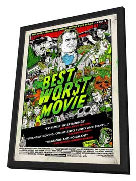 Best Worst Movie - 11 x 17 Movie Poster - Style A - in Deluxe Wood Frame