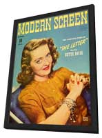 Bette Davis - 11 x 17 Modern Screen Magazine Cover 1940's - in Deluxe Wood Frame