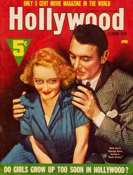 Bette Davis - 11 x 17 Hollywood Screen Life Magazine Cover 1930's