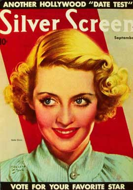 Bette Davis - 27 x 40 Movie Poster - Silver Screen Magazine Cover 1940's Style A