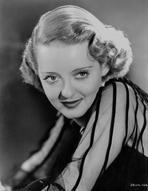 Bette Davis - Bette Davis Portrait smiling in See Through Black Linen Shirt