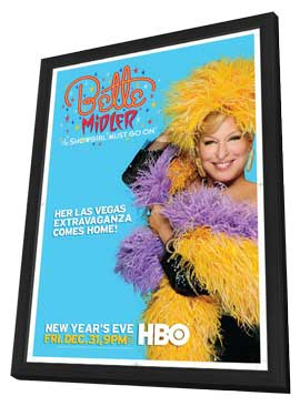 Bette Midler: The Showgirl Must Go On - 27 x 40 Movie Poster - Style A - in Deluxe Wood Frame